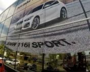 Werbetechnik Fensterbeklebung BMW am Expo Park Hannover