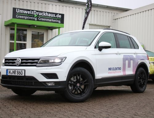 Car wrapping VW Tiguan für MR Elektro