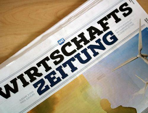 """""""Er zieht es durch"""" – UmweltDruckhaus Hannover in der HAZ Wirtschaftszeitung 3/2019"""