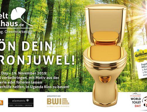 Krön Dein Thronjuwel! – World Toilet Day 2019 im UmweltDruckhaus Hannover