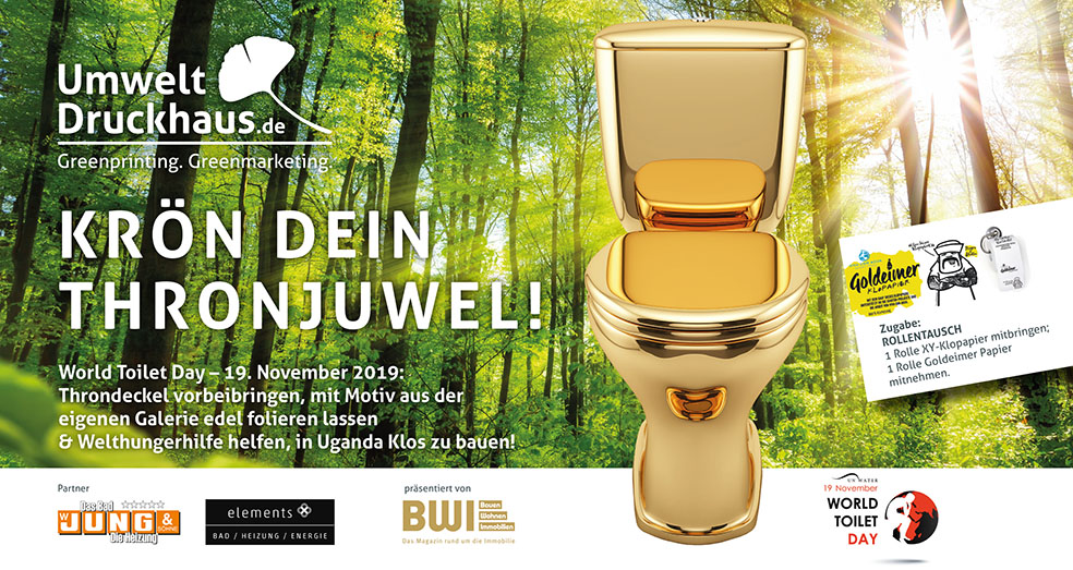 Krön Dein Kronjuwel! - UDH Thronjuweliererei - World Toilet Day 19. November 2019